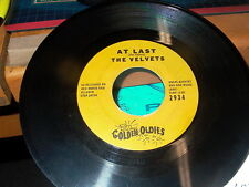 RED ROBIN GOLDEN OLDIES THE VELVETS AT LAST & i 45 RECORD # ZT3P24734