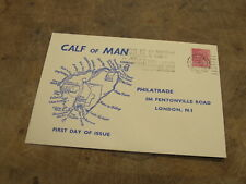 1973 FDC / First Day Cover - Calf of Man issue / sheet back sheet