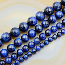 """Natural Tiger's Eye Gemstone Round Beads 7.5""""  Sapphire Peridot Topaz Mix-Color"""