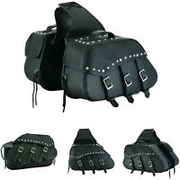 Leather Motorbike Saddle Bag Utility Tool Box Kit Motorcycle Storage Bag Pannier