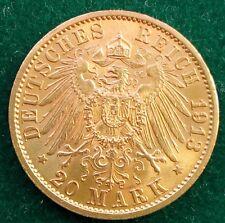20 Mark Kaiserreich 900 Goldmünze Wilhelm II König von Preußen 1913 A Jaeger 252