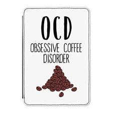 """COFFEE OCD Case Cover Per Kindle 6 """"e-reader - Divertente"""