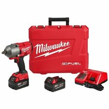 Milwaukee 2862-22 M18 FUEL 18V 1/2-Inch Pin Detent High Torque Impact Wrench Kit
