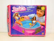 Vintage Barbie BUBBLING SPA Pool Playset In BOX Mattel 7145 1983