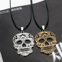 Sugar Skull Necklace Mexican Jewelry Day Of The Dead Skeleton Pendant Charm Gift