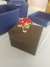 Swarovski Crystal Small Christmas Poinsettia Red Flower #905209 New