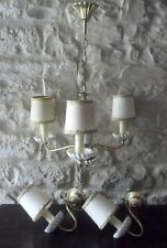 Vintage French Chandelier & Wall Lights