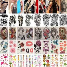 Hombre de dama Completa Manga tatuaje temporal Etiqueta Body Art 3D Impermeable