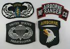 Vintage Lot of 4 United States Paratrooper Airborne Ranger Infantry Patch