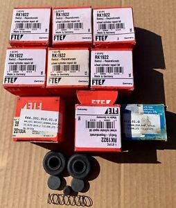 PORSCHE 356 356A 356B BRAKE WHEEL CYLINDER REBUILD KITS(10) ATE(2) & FTE(8)