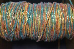 "Lot 1,  2 Yards <1/8""  Multi Colored Cording w/ Mylar Fly Tying & Minnow Bodies"