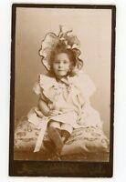 PHOTO CDV Randon Rouen une fillette avec un superbe chapeau mode fashion