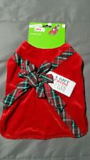 Christmas Present Gift Tag Santa Claws Claus Cat Kitten Coat Red Green Plaid Bow