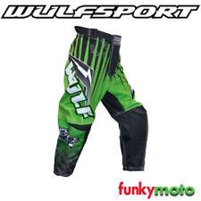 Pantalones de color principal verde para motoristas
