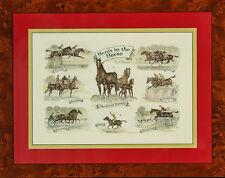 """Here's To The Horse Color Plate by Paul Brown"""