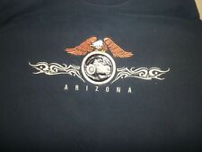 Harley-Davidson Embroidered Eagle Circle Leather Patch with Bike Arizona T Shirt