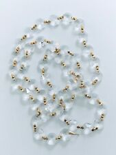 1 Meter-14mm Gold Clear Crystal Garland, Octagon Cut Crystal Chain CCI