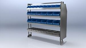 VAS VAN SHELVING, HEAVY DUTY  (VAS/TK1/12.13  L:1334mm H:1330mm)