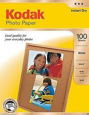 Kodak Photo Paper, 6.5 mil, Glossy, 8-1/2 x 11, 100 Sheets/Pack