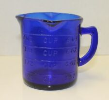 New Cobalt Blue Measuring Cup 3 Spout Retro Depression Glass Style