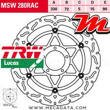 Disque de frein Avant TRW Lucas MSW 280 RAC Ducati 848 Evo Corse SE (H6) 2012+
