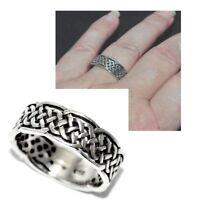 Bague anneau en argent massif 925 tresse T 58 bijou ring