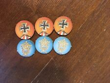Memoir '44 Board Game Replacement Pieces Parts 6 Victory Medals