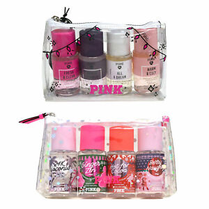 Victoria's Secret Pink Gift Set 4 Scented Body Mist Travel Size 2.5 Fl Oz Nwt