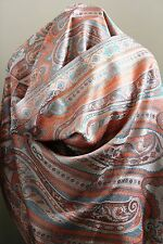Paisley Pashmina Silk Scarf Luxury Fashion Wrap Womens Reversible Long Stole