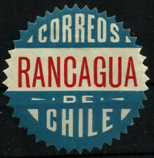 CHILE, OFFICIAL SEAL, RANCAGUA, SAW TOOTH, MINT HINGED