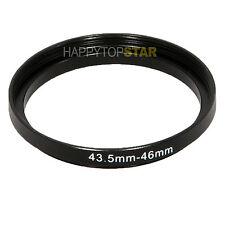 43.5mm to 46mm 43.5-46mm Male to Female Step-Up Photo Lens Filter Ring Adapter