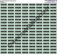 TT-Loknummern DR Diesel, 106-130, silber auf schwarz, Kreye Decals 120-1540