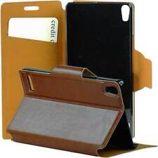 Sac téléphone portable pour Huawei Ascend p6 sac Housse de protection Case Marron