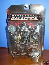 "Battlestar Galactica  BATTLE DAMAGED CYLON PILOT 7"" FIG"