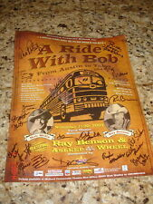 SIGNED ASLEEP AT THE WHEEL POSTER RAY BENSON RIDE W BOB