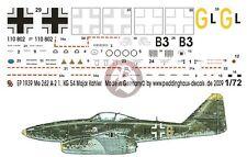 Peddinghaus 1/72 Me 262 A-1a Markings Gunter Kahler 3./KG(J) 54 Giebelstadt 1939