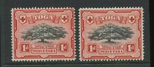 TONGA 1942 1d TREE CONSTANT VARIETY...TRIPLE DOTS LEFT of VALUE...UM MINT