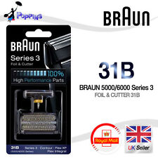 NEW Genuine BRAUN 31B 5000 / 6000 series Replacement Foil + Cutter Set