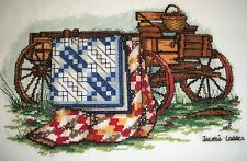 Paula Vaughan Finished cross stitch piece-Quilts of the bible/Jacob's Ladder
