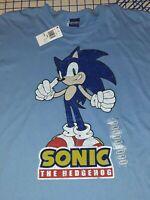 Sonic The Hedgehog Men's XL T Shirt Retro Sega Distressed Graphic Tee NWT