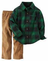 NWT Carter's Baby Boy 2-Pc Outfits Sets Overalls Fleece Jeans NB 3 6 9 12 18 24
