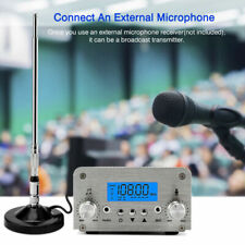 15W PLL FM Transmitter Wireless USB Station Radio Broadcast Antenna 88~108MHz