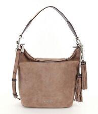 NWT Michael Kors Elana Suede Leather Convertible Shoulder Bag Dark Dune $378 NEW