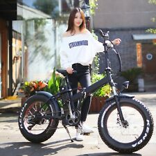 Niubo 1000w/48v Fat Tire Folding 20in Electric Bicycle Ebike NEW