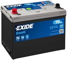 EXIDE EB705 Excell 70Ah 540CCA 12v Type 031 - 069 Car Battery 3 Year Warranty