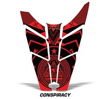 Sled Hood Graphics Kit Decal Sticker Wrap For Polaris Rush RMK 11-16 CNSPRCY RED