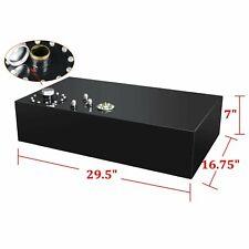17 Gallon Street Rod Fuel Cell Gas Tank w/ Cap & Level Sender 64L Aluminum Black