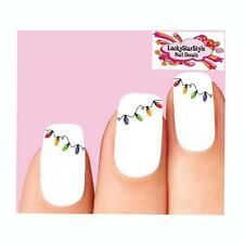 Waterslide Holiday Nail Decals Set of 20 - Christmas Lights
