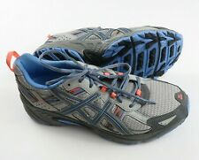 Asics Womens Gel Venture 5 Trail Running Shoes Size 12 Gray Blue Pink