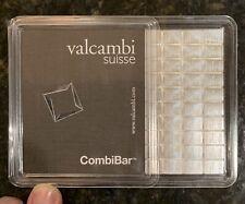 100 Gram Silver Valcambi CombiBars | 100×1 Gram Silver Bars | (sealed in Assay)